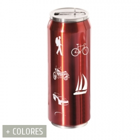 Thermocan 500 ml red outdoors