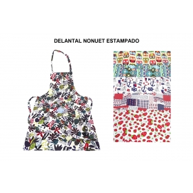 Delantal nonuet estampado.