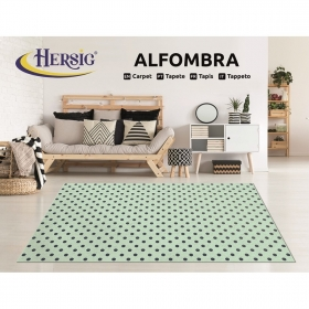 Alfombra brush dots 67x125cm