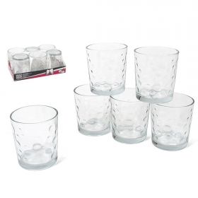 Set 6 vasos agua agato 256ml
