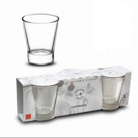 Set 3 vasos Caffeino 8,5 cl