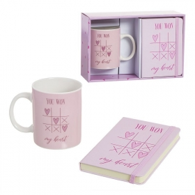 Set taza con libreta love