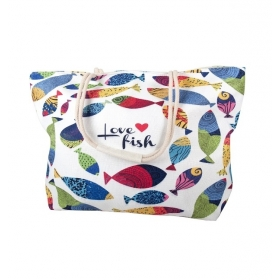 Bolso de playa love fish...
