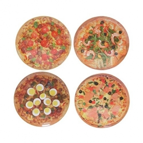 Set de 4 Platos de Pizza