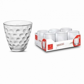 Vaso Dots agua 25cl. Set 6